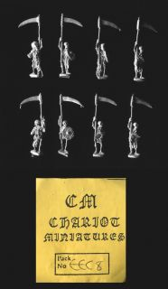 Chariot Miniatures 15mm Fantasy EEC08 Skeletons with Scythes x 8